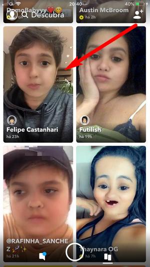 Filtro de bebê não aparece no Snapchat
