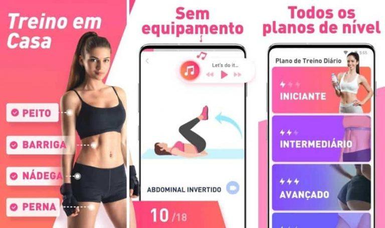 aplicativos para treino em casa