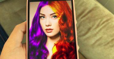 Aplicativos que mudam a cor do cabelo